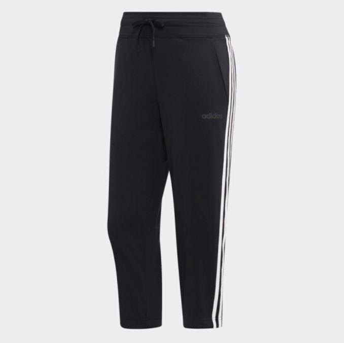 Adidas D2M 3S 34 PANT女款黑色訓練長褲-NO.DS8734