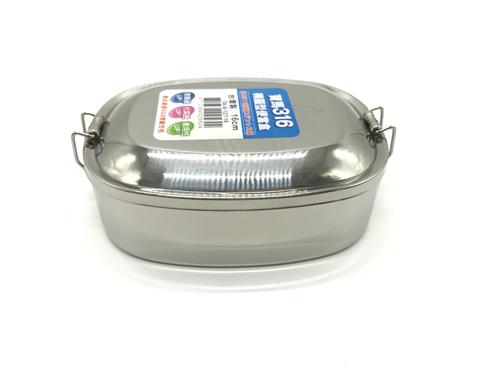 【好市吉居家生活】 寶馬牌 TA-S-127-16 316橢圓形便當盒 16CM 餐盒 不銹鋼 飯盒