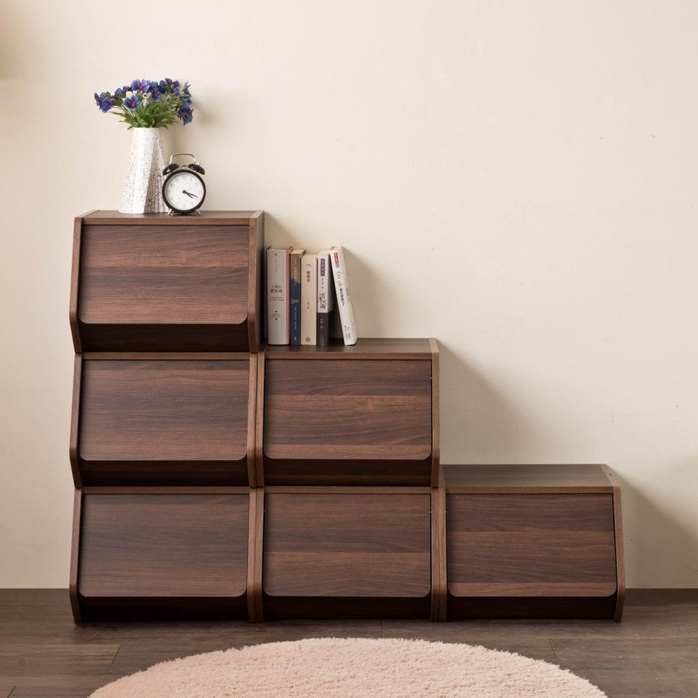 空櫃 整理箱 置物櫃【收納屋】創意樂芙掀門堆疊收納櫃& DIY組合傢俱