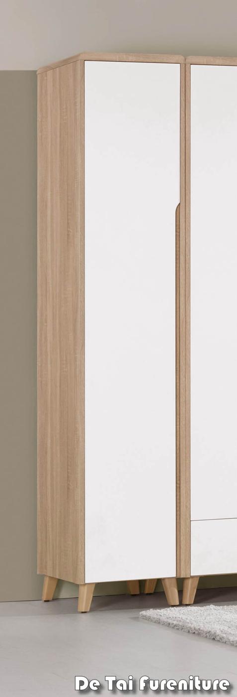 【德泰傢俱工廠】伯妮斯1.3尺衣櫥(單吊)(免運費)