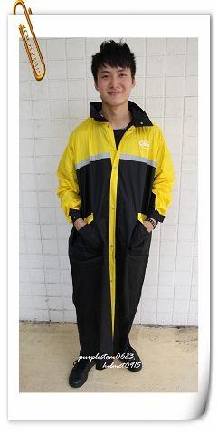 ARAI雨衣,W022,黑黃