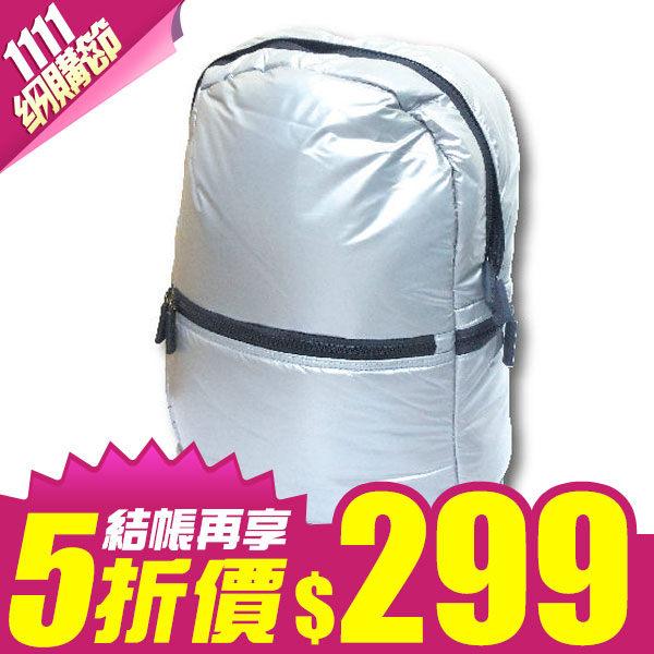 chunbaiyi炫彩時尚泡泡筆電包銀白款亮黑款筆電收納太空背包