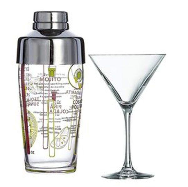 Luminarc 雞尾酒杯5件組(4玻璃杯+ 1個雪克杯)