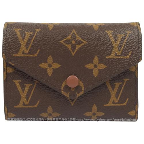 茱麗葉精品全新精品Louis Vuitton LV M62472 Victorine經典花紋信用卡簡式短夾現貨