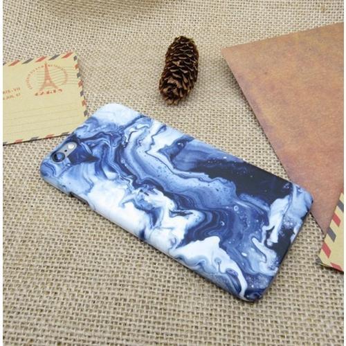 數位風潮藍色水紋石大理石創意設計蘋果iphone 7蘋果5s 6s 7s se plus手機殼磨砂6
