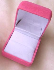 植絨噴絨戒指盒批發(寶藍內黑)