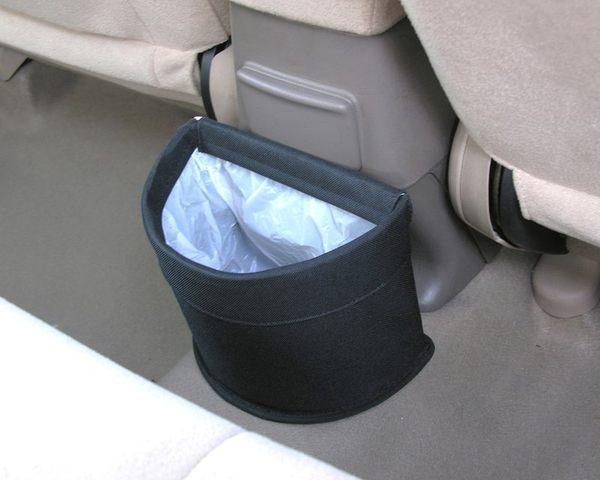 車之嚴選cars go汽車用品EH-139日本SEIKO車用高質感半圓形垃圾桶置物箱