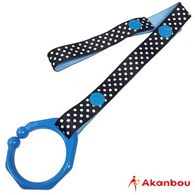 Weicker 唯可 akanbou C型扣環玩具吊帶-點點藍【佳兒園婦幼館】