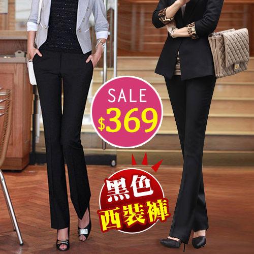 西裝褲-BOBO小中大尺碼【1901】黑色西裝褲-M-3L-共2色