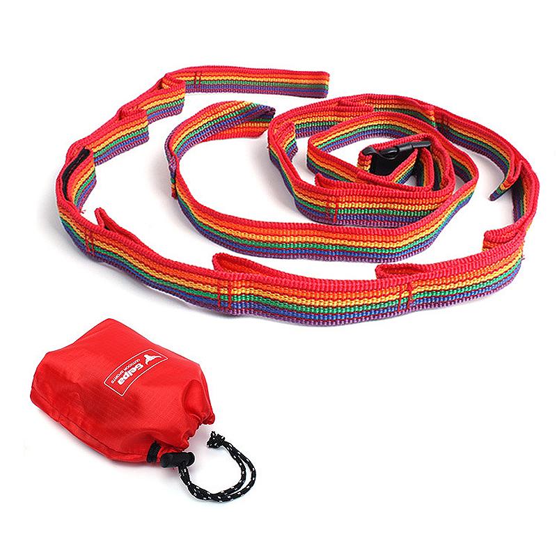 【泰博思】 戶外掛繩 晾衣繩 U型掛繩 七彩掛帶 露營配件 裝備繩 燈掛 杯掛【H047】
