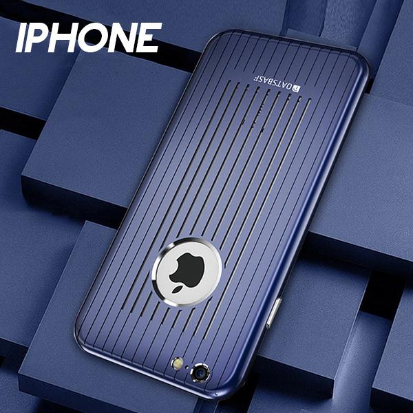IPHONE 8 8 PLUS 7 7 PLUS 6.6S 6.6S PLUS簡約金屬防摔散熱設計手機殼五色CAS167