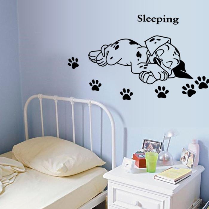 DIY無痕壁貼 小狗睡覺 牆貼 創意壁貼《YV6372》快樂生活網