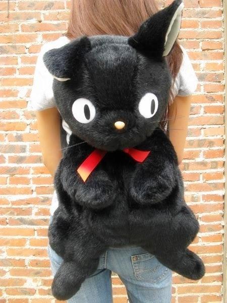 【發現。好貨】黑貓kiki 宮崎駿魔女宅急便官方黑貓書包毛絨雙肩背包後背包雙肩包 70CM