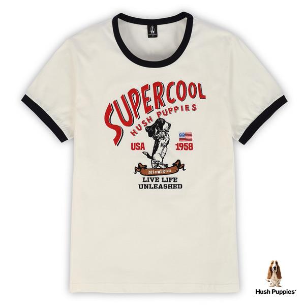 Hush Puppies T恤 男裝美式復古刺繡狗短袖T恤