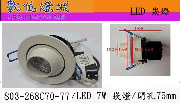 特價優惠中~數位燈城LED-Light-Link LED燈具SO2-268C LED崁燈