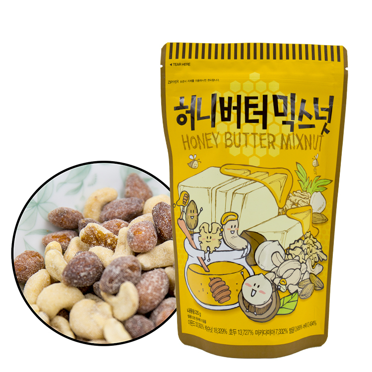 韓國Toms Gilim蜂蜜奶油綜合堅果220g杏仁果堅果核桃腰果進口零食庫奇小舖