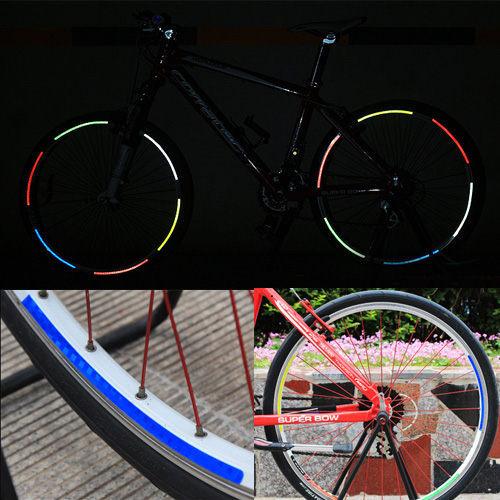 自行車輪反光貼紙 腳踏車反光安全貼 (不挑色)