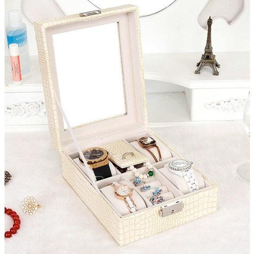 Ministyle高貴蛇紋皮革首飾盒飾品盒珠寶小盒手錶飾品收納送禮聖誕節交換禮物展示架