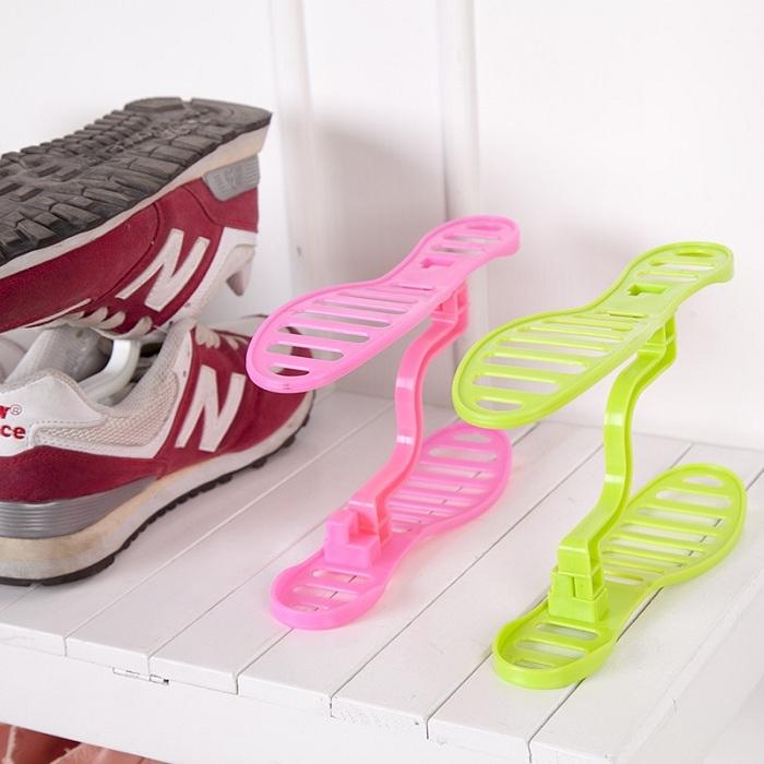 迷你雙層收納鞋架整理鞋架日式鞋櫃收納架鞋架雙層鞋撐鞋收納RS404