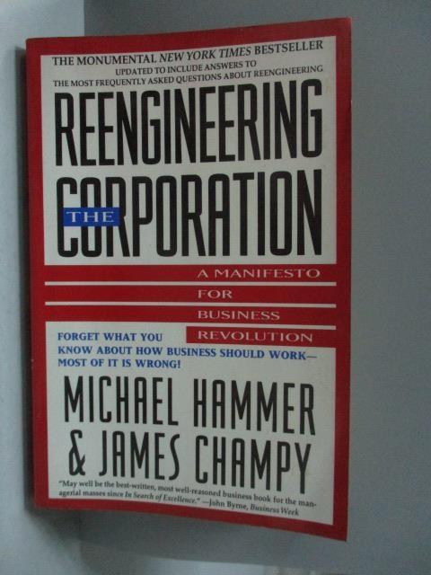 【書寶二手書T8/財經企管_OOO】Reengineering the Corporation_Hammer