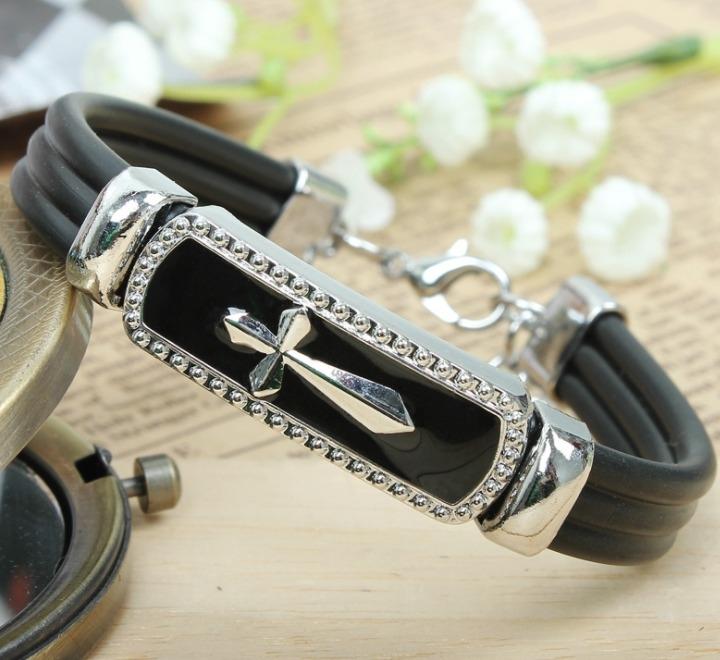 金屬十字架 男士手飾 手鍊 歐美時尚 手鐲 手環