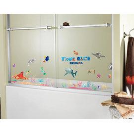 迪士尼-海底總動員創意壁貼-海底總動員多莉尼莫35*50cm雙拼