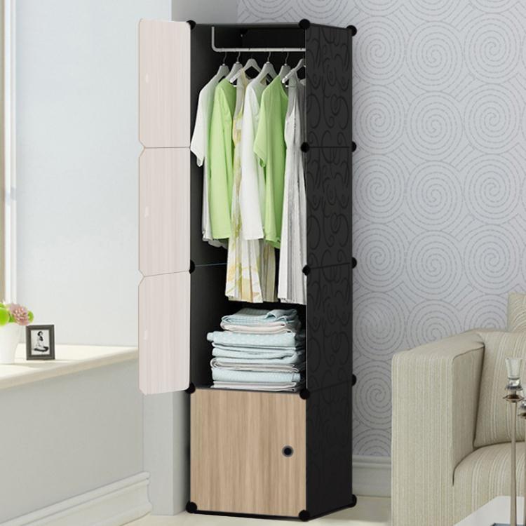 兒童單人樹脂衣柜家用組裝塑料簡易小號寶寶衣櫥布藝鋼架組合收納tw