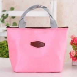 純色保溫保冷袋 便當盒袋(天藍/粉色)