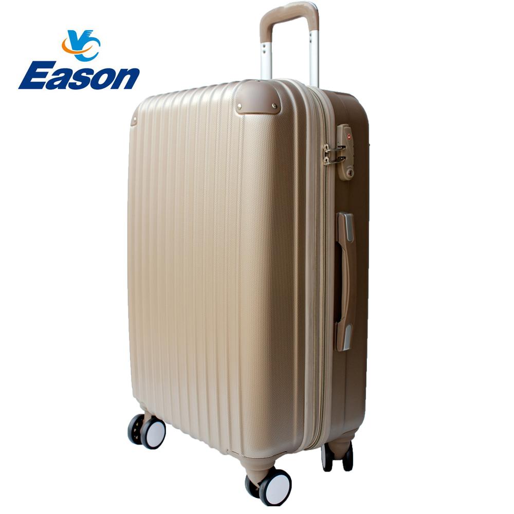 YC Eason皇家系列可加大海關鎖款ABS硬殼行李箱28吋-奢華金