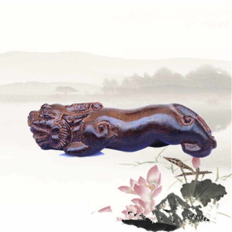 [協貿國際]越南沉香木莆田木雕雕刻鎮宅貔貅1入