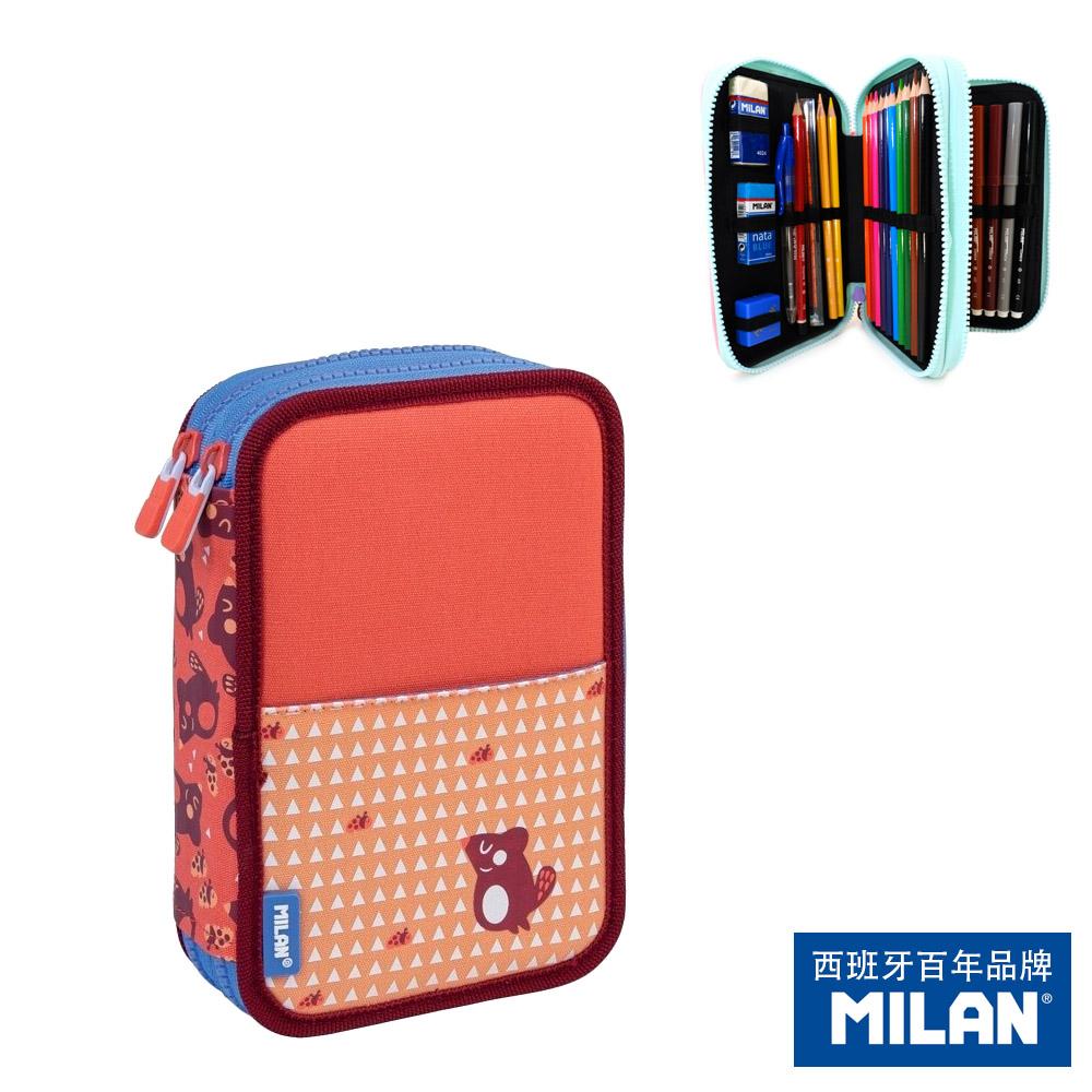 【MILAN】隨行畫筆袋著走_瓢蟲與小松鼠(雙層式)