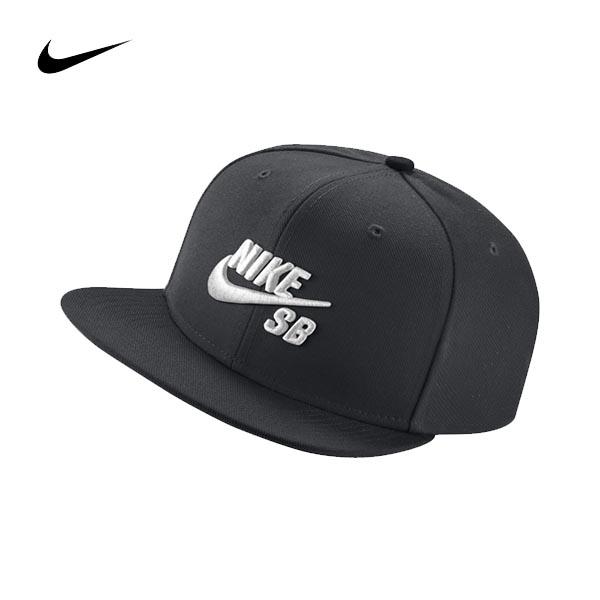 NIKE SB ICON棒球帽628683-013黑底白色電繡可調後扣