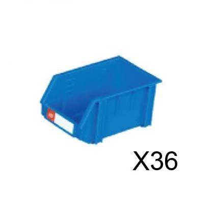 nicegoods耐衝擊整理盒36個箱寬15.2cm深24.3cm高12.5cm塑膠盒整理盒收納盒