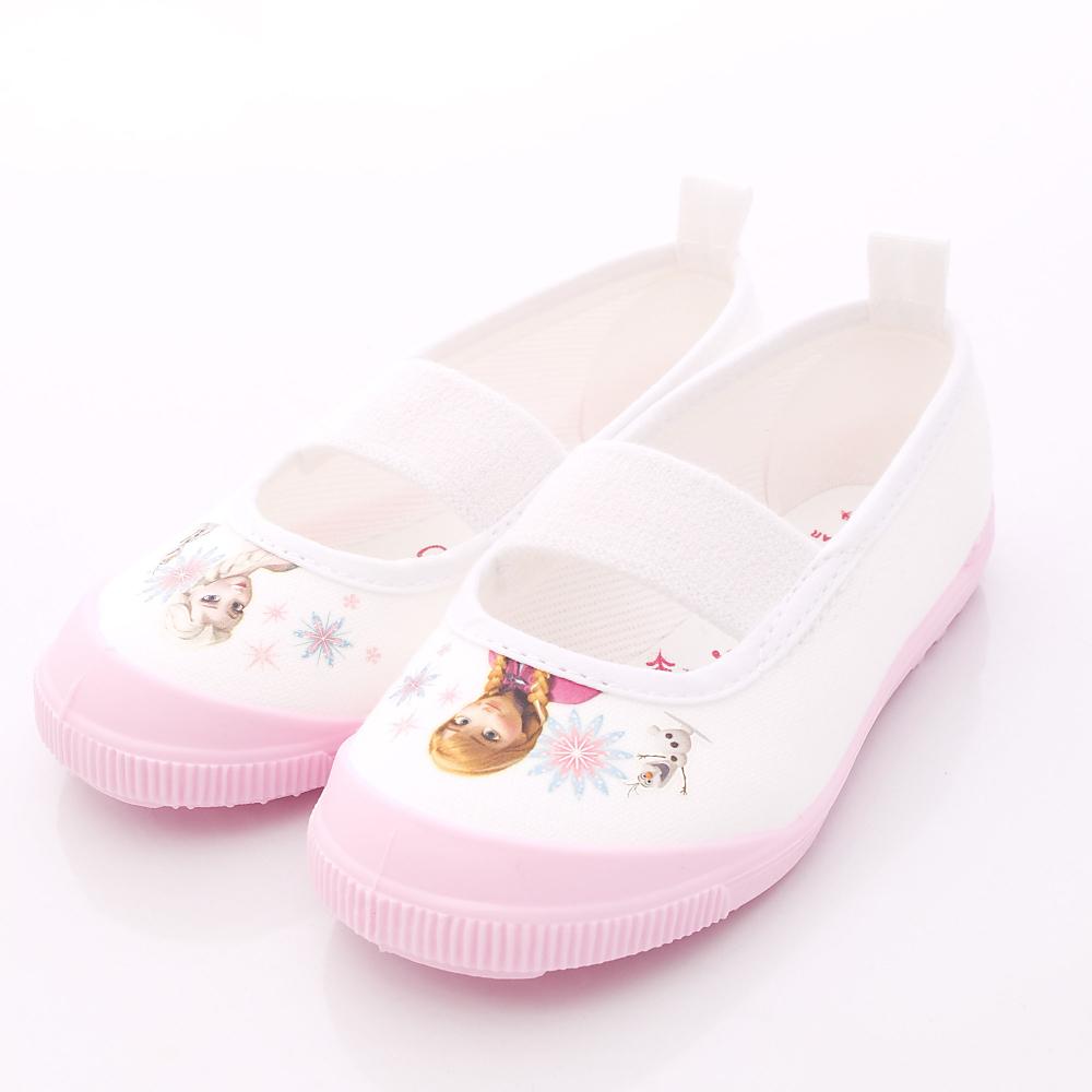 日本Moonstar機能童鞋 日本製冰雪奇緣室內鞋 F014粉(中小童段)