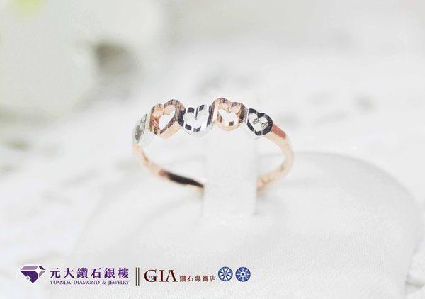 元大鑽石銀樓白K金幸福相守經典戒指白K金婚戒結婚戒求婚戒對戒線戒