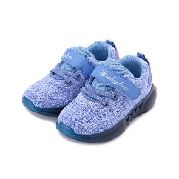 BABYLON 飛織果凍休閒鞋 藍 中童鞋 鞋全家福