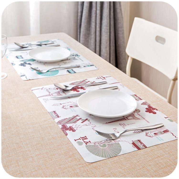超豐國際歐式防水餐桌墊防熱墊創意餐墊盤子碗墊鍋墊長方形隔熱