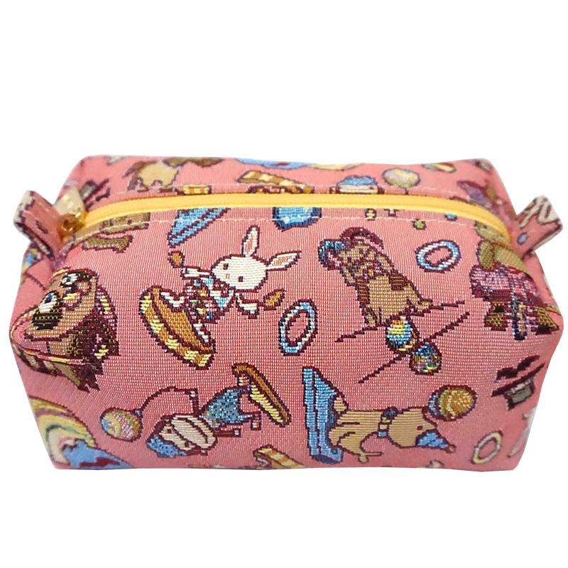 部落客台灣梅子分享款REORE化妝包-開心迷你馬戲團緹花蛋糕包粉紅-REORE