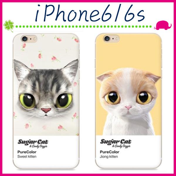 Apple iPhone6 6s 4.7吋Plus 5.5吋寵貓系列手機殼大眼貓咪背蓋PC手機套可愛萌貓保護套彩繪保護殼
