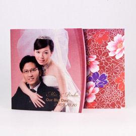 相片喜帖花好月圓系列Ⅳ-紫紅編號p001-d特色喜帖創意婚卡婚紗喜帖精緻婚卡幸福朵朵