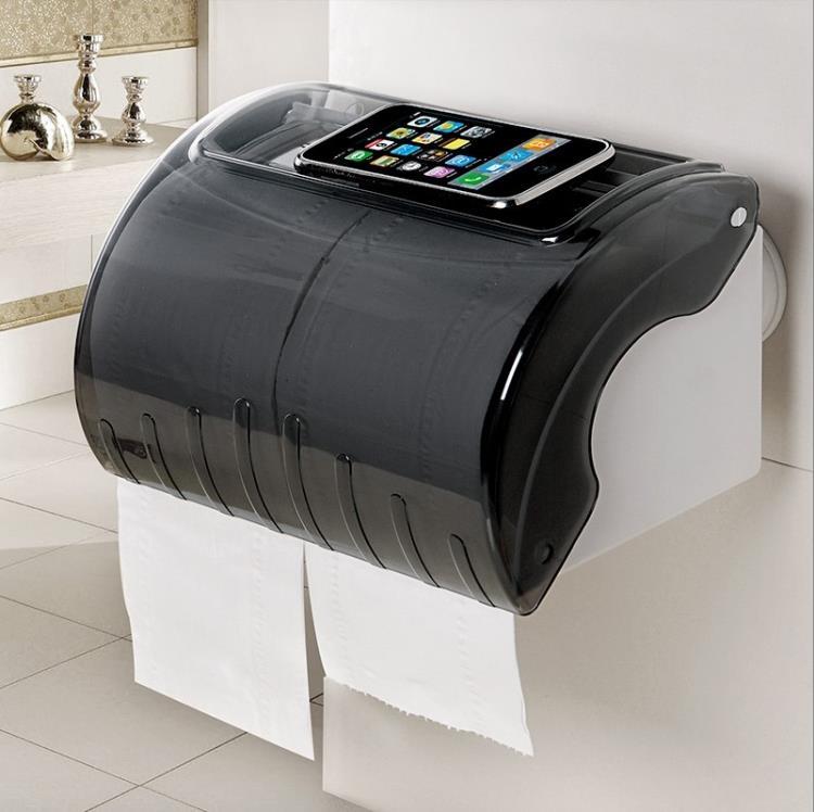 紙巾盒浴室大號吸盤紙巾盒卷紙盒免打孔紙盒衣衣布舍