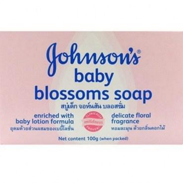 Johnsons嬌生嬰兒潤膚香皂-花朵清香100g*12入