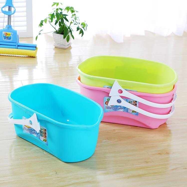 超豐國際加厚長方形平板拖把桶手提塑料桶家用膠棉拖把清洗桶大水桶