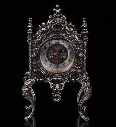 精緻품질-神秘古埃及圖紋鋅合金座鐘復古鐘錶台鐘高級辦公室別墅擺件預購10天現貨