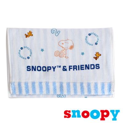 Snoopy 史努比-數字圓圈直紋棉底無捻印花童巾(共2色)