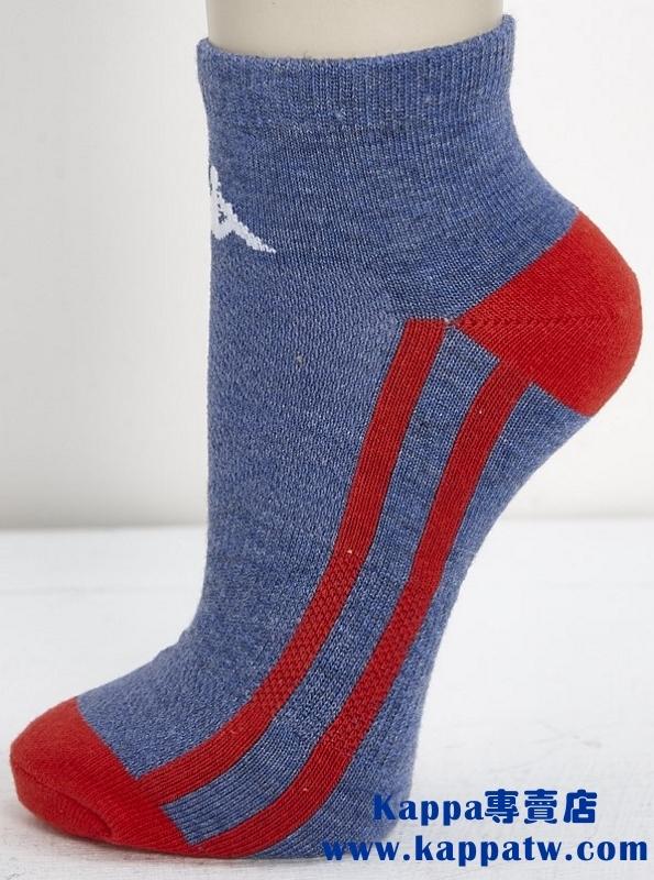 Kappa男生踝襪-丹寧藍柿紅薄底SM66-M232-5