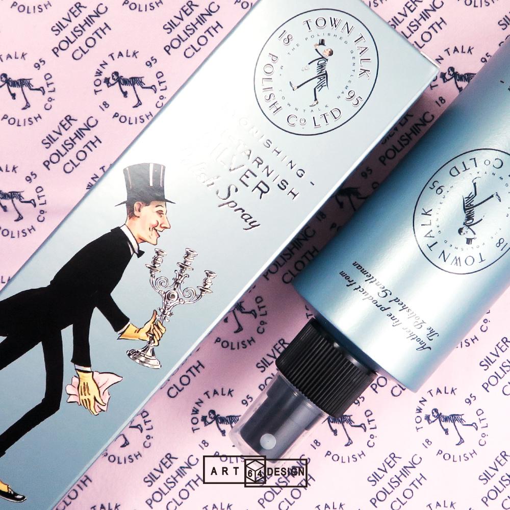 銀飾保養專用 英國銀器潔亮噴劑(銀飾清潔噴霧)〈250ml〉英國Town Talk飾品清潔保養品