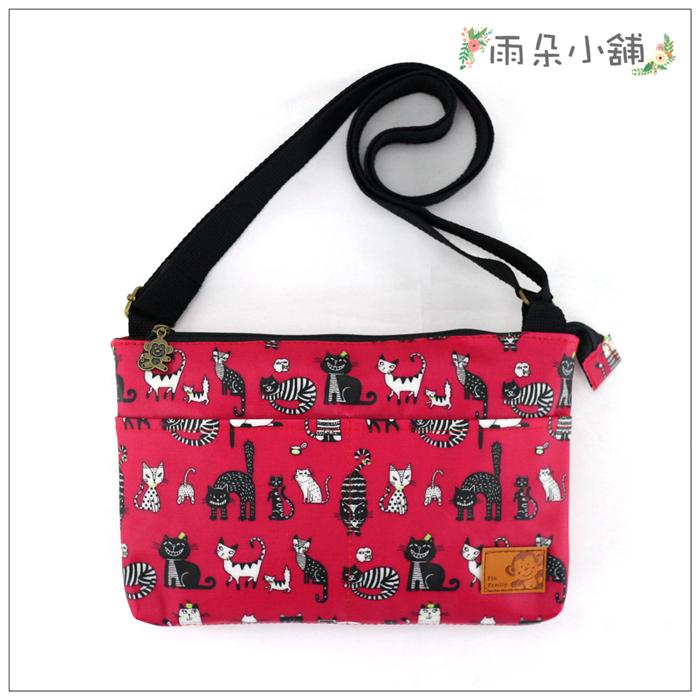 側背包包包防水包雨朵小舖M354-007巧空間側背包-桃我不是貓咪12033 funbaobao