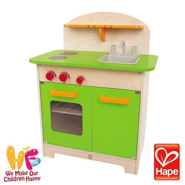 《德國Hape》大型廚具台 (綠色)★買就送:瑞士oops軟背包(款式隨機,送完為止)