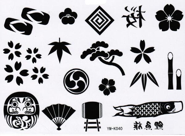 薇嘉雅     日式吉祥物 紋身貼紙 k-040